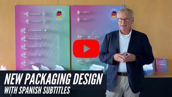 Vídeo en Youtube – Nuevo diseño de envases