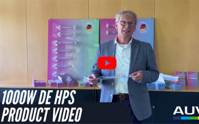 Neues Video – 1000W DE HPS Lampenaufbau