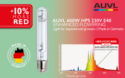 La lámpara de floración mejorada AUVL de 600 W